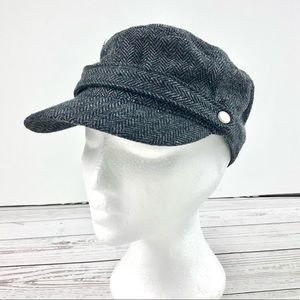 Bluenotes grey herringbone newsboy cap
